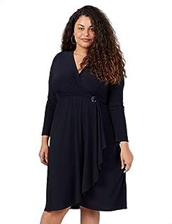 Splash V-Neck Basic Wrap Dress for Women 24