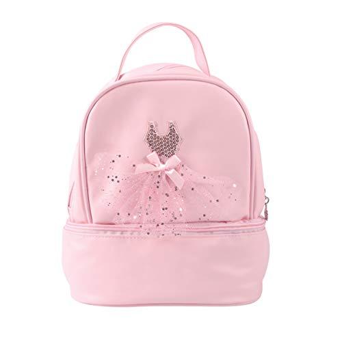 TENDYCOCO Toddler Backpack Ballet Backpack Latin Ballerina Dance Bag for Little Girls