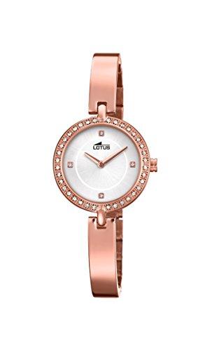 Lotus Watches Reloj Análogo clásico para Mujer de Cuarzo con Correa en Acero Inoxidable 18549/1
