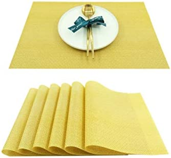 Placemats Non Slip Heat Resistant Stain Resistant Washable PVC Dining KitchenTable Mats Woven product image
