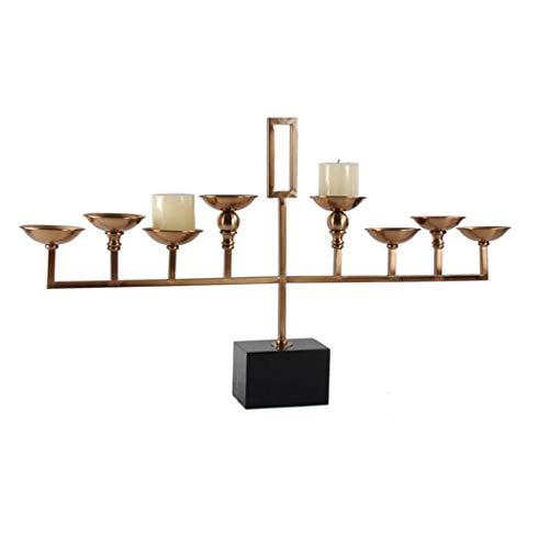 8-Arms metalen kroonluchter voor open haard, moderne metalen frame geometrische overgangsfinish, tafel Centerpiece chique bruiloft decoratie ijzer kandelaar DIY kaarsenhouders Zwart