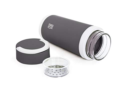 IRIS thermosfles, 450 ml, grijs, 7,5 cm
