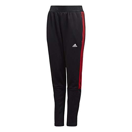adidas - Fußball-Hosen für Jungen in Negro/Rojint, Größe 128 (7/8 Jahre)