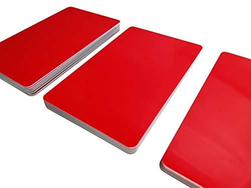 5tarjetas de plástico, tarjetas de PVC, elige entre 20diferentes colores | en blanco | nuevo, color rojo 85 x 54 x 0,76 mm