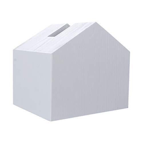 VICASKY 1Pc Holz Förmigen Platz Tissue Box Praktische Tabletop Tissue Halter für Bad Schlafzimmer Oder Büro Licht Grau
