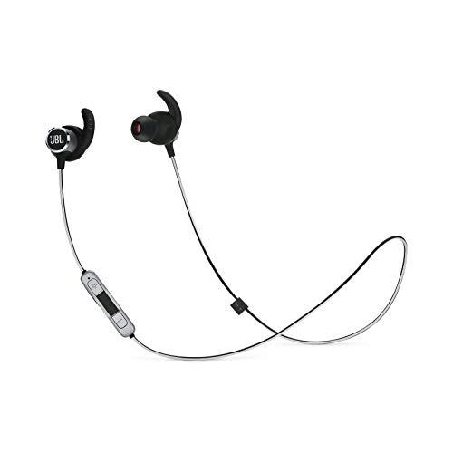 JBL Reflect Mini 2.0 - In-Ear Wireless Sport Headphone with 3-Button Mic/Remote - Black