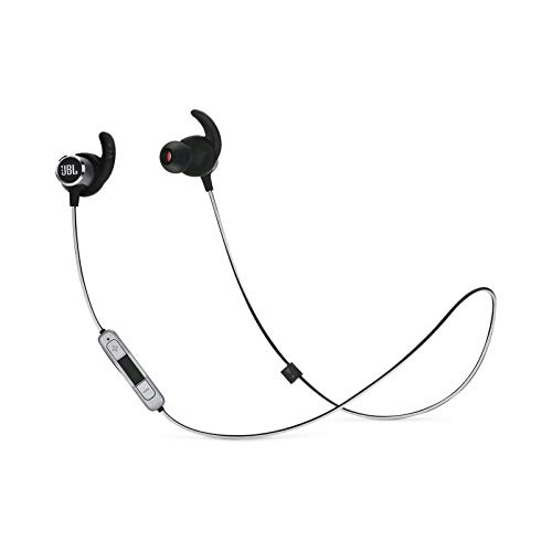 JBL Reflect Mini 2.0 - In-Ear Wireless Sport Headphone with 3-Button Mic/Remote - Black