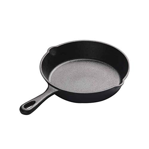 GeKLok Sartén antiadherente de hierro fundido para cocina de inducción, huevos y panqueques, sartén para inducción, cocinas eléctricas y de gas (tamaño de 16 cm)