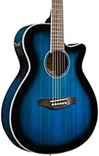 Ibanez AEG8E Cutaway Acoustic-Electric Guitar Transparent Blue Sunburst