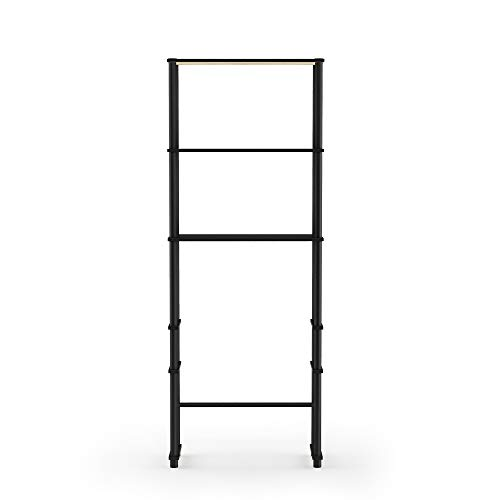 Furinno Turn-N-Tube with 3 Shelves Toilet Space Saver, Espresso/Black