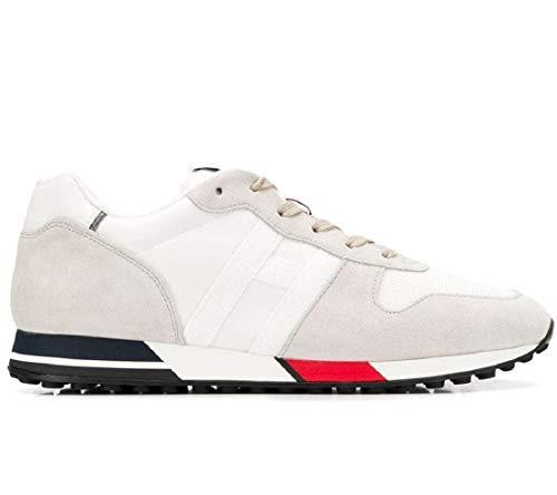 Hogan Herren Retro Running Sneaker H383 HXM3830AN51JQS194B Weiß, Weiß - Bianco - Größe: 43.5 EU Larga