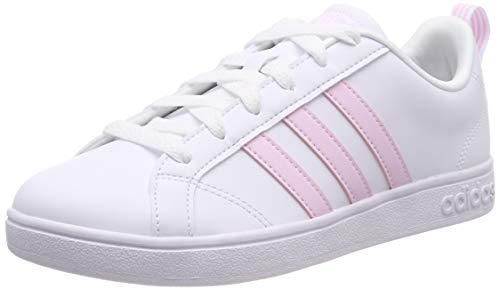 adidas Vs Advantage Zapatillas de Tenis Mujer, Blanco (Ftwr White/Aero Pink S18/Light Granite Ftwr White/Aero Pink S18/Light Granite), 36.5 EU