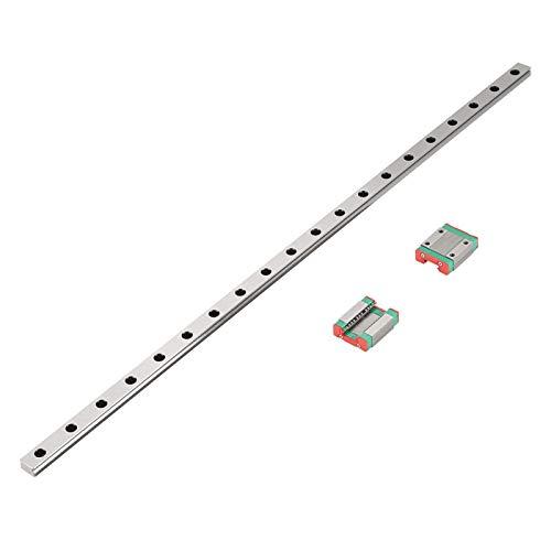 Guida lineare in miniatura Binario di guida 12 mm di larghezza + 2 pezzi MGN12B blocchi di scorrimento per Ender 3, Corexy, Tronxy, aggiornamenti per stampanti 3D Delta Kossel e macchina CNC