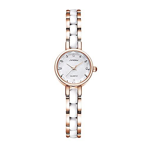 Festnight Reloj de Cuarzo para Mujer Exquisito Reloj de Pulsera para Mujer Reloj de Pulsera analógico para Mujer Relojes Elegantes para Mujer Pantalla de Tiempo precisa 3ATM Impermeable
