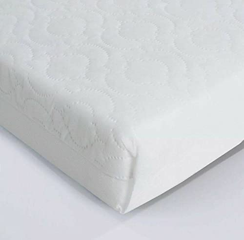 Extra Thick Travel Cot Mattress Quilted fits Graco Red Kite Non-Allergenic & Breathable (95 x 65 x 5 cm)