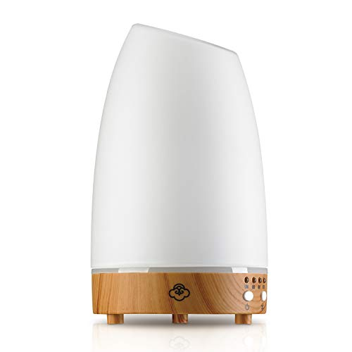 Serene House Astro White Small 90mm - Glass/Light Wood Base Diffuser
