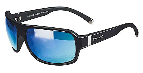 Casco Sonnenbrille SX-61 Bicolor, Farbe:schwarz matt-glanz blauspiegel