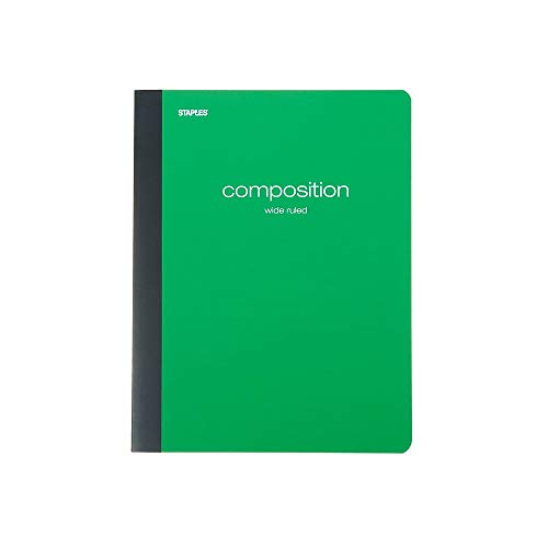 StaplesÃ'® Poly Composition Notebook, Wide Ruled, Assorted by Staples