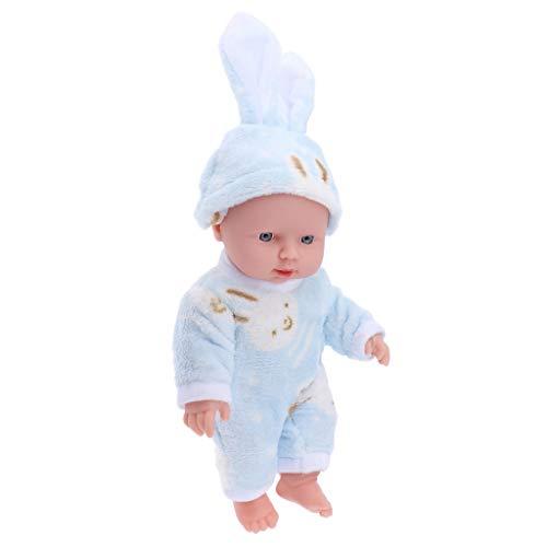 12 Zoll Weichkörperpuppe Weichkörper Babypuppe Puppen mit Kleidung, Höhe: 30cm