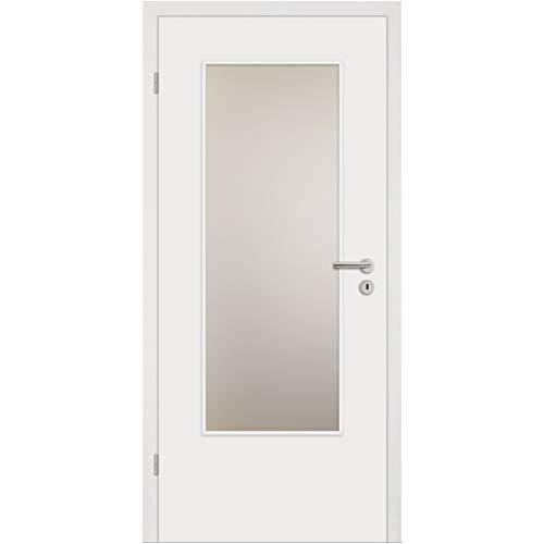 HORI® Zimmertür Komplettset mit Zarge und Türdrücker I Innentür weiß lackiert I Höhe 198,5 cm I 860 mm I DIN Links I Wandstärke: 140 mm (138-157 mm) mm