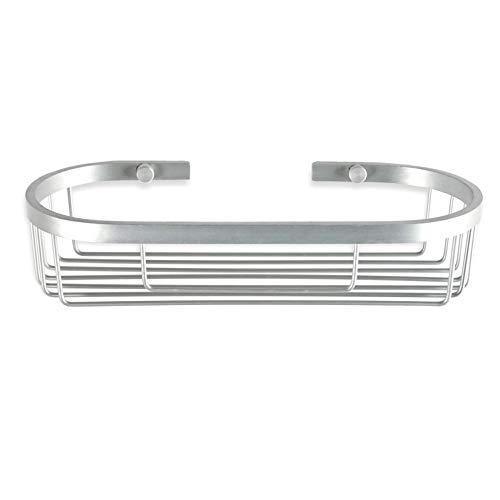 Tatay - Ice Cesta de Ducha o Bañera Ovalada para la Pared. Fabricada Aluminio Resistente a la Oxidación. Medidas 29 x 12 x 6,5 cm (L x An x Al)