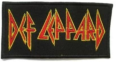 Def Leppard British Hardrock Logo Patch 10 X 5 Cm Embroidered Patch