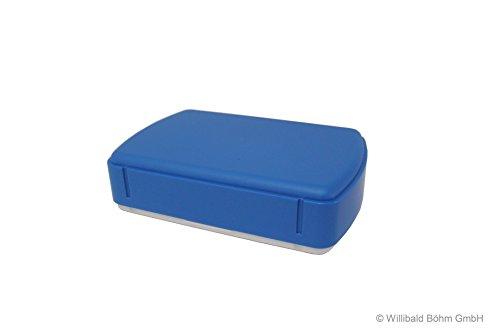 Brotdose, rechteckig, höhenverstellbar, pastell-blau, Sonja-PLASTIC, Made in Germany
