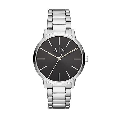 Armani Exchange Men's Cayde Stainless Steel Watch, Color: Silver/Black Steel (Model: AX2700)