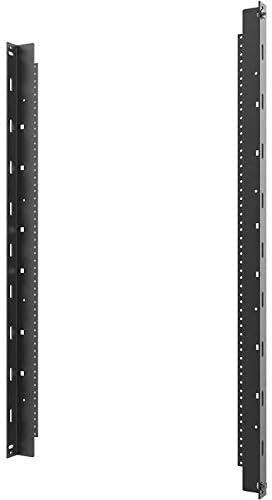 C2G Vertical Rail Kit for 26RU Swing-Out Wall-Mount Cabinet, Black (SWMRK26RU)