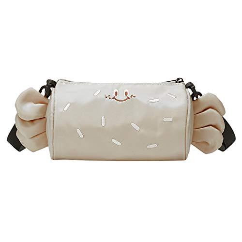 UmhäNgetaschen Damen TTLOVE Neue Crossbody Tasche Weiblich Zylinderpaket MäDchen Einfache Sommer Böhmische Strandtasche Messenger Bag Reisetasche (Weiß)