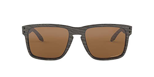 Oakley Men's OO9417 Holbrook XL Square Sunglasses, Woodgrain/Prizm Tungsten Polarized, 59 mm