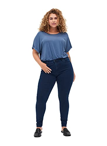 Zizzi Damen Amy Jeans Slim Fit Jeanshose Stretch...
