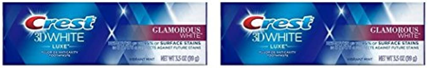 Crest 3D White Luxe Glamorous White Toothpaste, Vibrant Mint Flavor, 3.5 oz (Pack of 2)