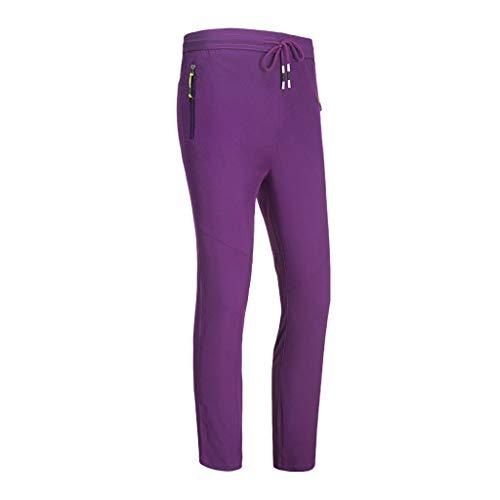 Honestyi Pantalon Femme à Séchage Rapide Pants en Plein air Randonnée Trousers Décontractée Étanche Pantalons Confortable Respirant Pantalon Grande Taille Droite Pants