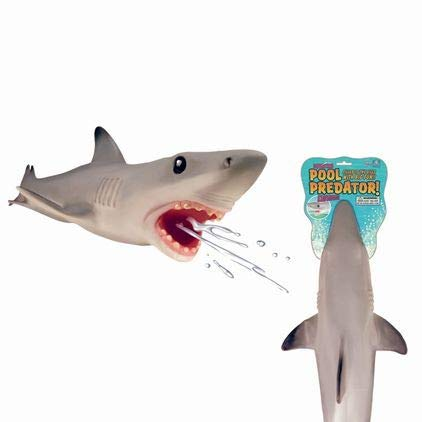 Play Visions Great White Shark Pool & Bath Toy - Water Squirter - Super Realistic And Over 2 Feet Long