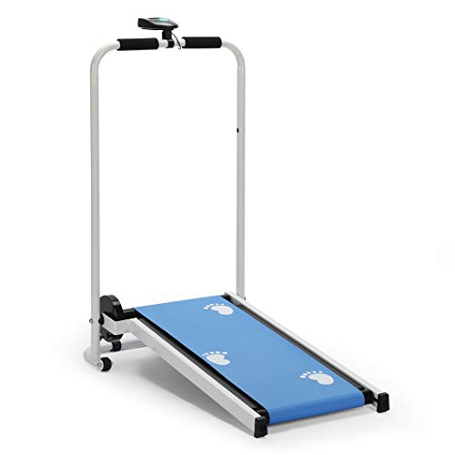 homelikesport Faltbar Mini-Laufband Laufband ohne Strom Falten, Fitness-Laufmatte, Laufmaschine, 86 * 39 * 100CM