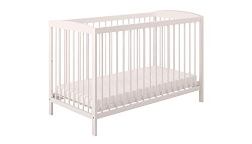 Polini Kids Gitterbett Kinderbett weiß aus Naturholz