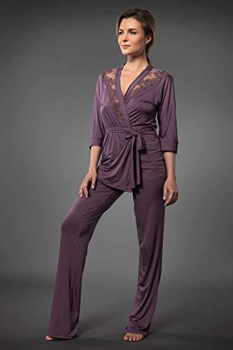 Millesime Lingerie TOP Shirt Damen Bluse Damen Pullover Sexy Top Sexy Oberteile Top mit Spitze Home Schlafanzug Damen Nachtwäsche Große Größe Sexy Frauen Pyjama Damen Plus Size Top Spitze Homewear