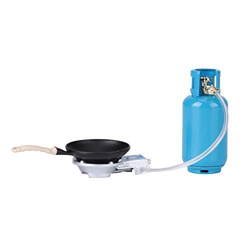 Accesorios de casa de muñecas, 3 piezas 1:12 casa de muñecas Mini simulación estufa de gas modelo de tanque casa de muñecas accesorio de escena de cocina(Tanque de gasolina en miniatura)