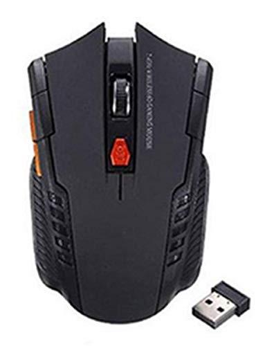 Mouse Gamer Sem Fio 2.4GHz Usb Óptico para PC e Notebook (Preto)