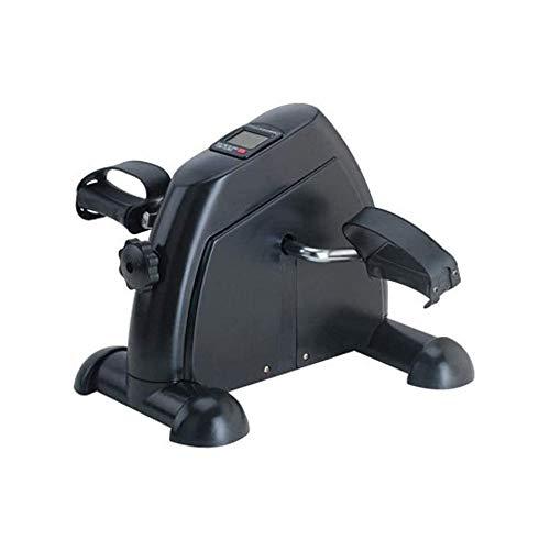 LMCLJJ Mini Rehabilitación máquina eléctrica Entrenamiento portátil de Bicicleta de Ejercicios LCD Monitor Equipo de la Aptitud Digital (Color : Black)