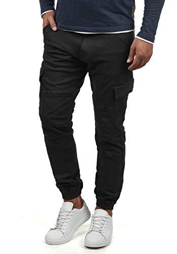 Indicode Bromfield Herren Cargohose Lange Hose Mit Taschen, Größe:L, Farbe:Black (999)