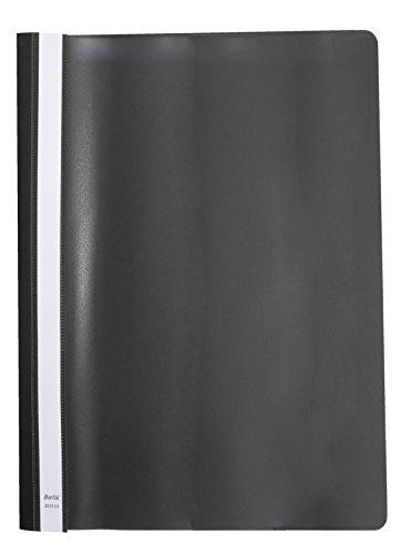 Elba 100550195 - Bolsa de 20 dossiers fásteners de plástico flexible, color negro 🔥