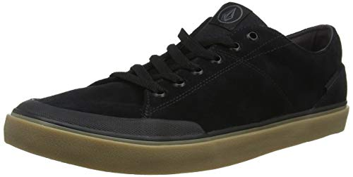 Volcom Leeds Suede Shoe, Zapatillas de Skateboard para Hombre, Negro (Black out Bko), 45 EU