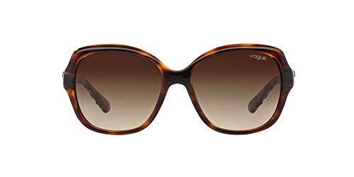 Vogue 0vo2871s Gafas de sol, Striped Dark Havana, 56 mm para Mujer