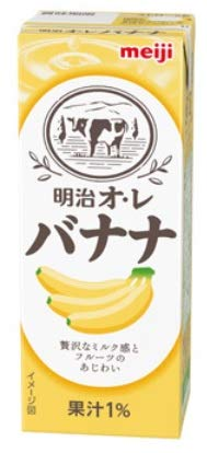明治 オ・レ バナナ 200ml紙パック×24本入