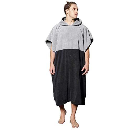 zyeziwhs Toalla de playa con capucha que cambia la bata, poncho de surf, toalla gruesa de microfibra de algodón de secado rápido para adultos, playa, piscina, natación, deportes al aire libre