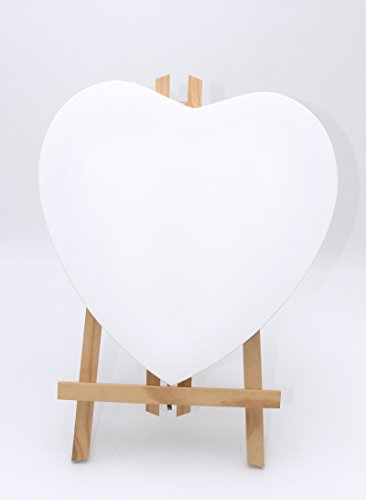 Paintersisters-Neuss 10er Sparset Leinwand Herz 30x30cm, 380gr/m² Qualitäts- Keilrahmen