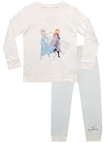 Disney Mädchen Schlafanzug Frozen Grau 122