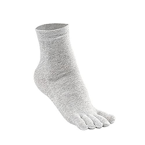 woyada Calcetines de corte medio para hombre, calcetines ortopédicos transpirables de compresión con pestaña de gel